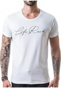 Camiseta T-Shirt Liferock - Masculino-Branco