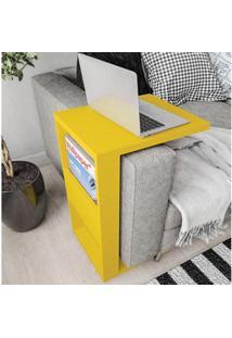 Mesa De Apoio Book Com Suporte Amarelo - Líder Design