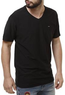 Camiseta Dixie Manga Curta Masculina - Masculino-Preto