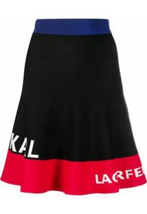 Karl Lagerfeld Camiseta Color Block Com Logo - Preto