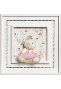 Quadro Princesa Strass Ursa Grande Beb㪠Infantil Menina Potinho De Mel Rosa - Rosa - Menina - Dafiti