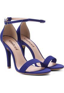 Sandália Colcci Salto Fino Alto Feminina - Feminino-Azul