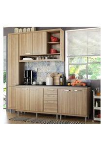 Cozinha Completa Multimóveis Com 5 Peças Sicília 5813 Argila/Argila