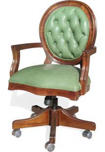 Cadeira Com Braço Giratória Imperial Reclinável E Ajuste De Altura Design Clássico