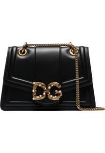 Dolce & Gabbana Bolsa Tiracolo Dg Amore De Couro - Preto