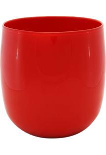Vaso Bianco E Nero 23X25Cm Vermelho - Kanui