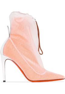 Heron Preston Drawstring-Layer 100Mm Ankle Boots - Laranja