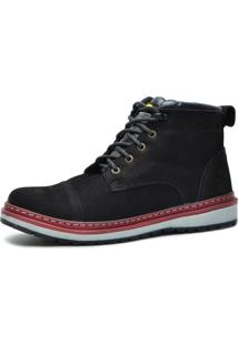 Bota Worker Over Boots Couro Preto Urban