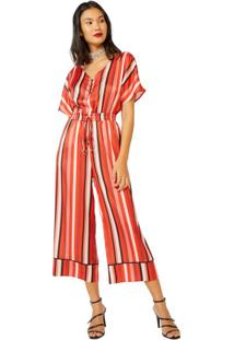 ed2ca5168 Macacão Listras Vermelho feminino