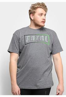 Camiseta Fatal Logo Ice Plus Size Masculina - Masculino-Grafite