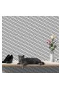 Papel De Parede Autocolante Rolo 0,58 X 3M - Preto E Branco 459
