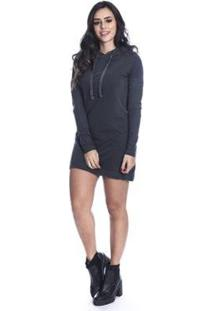 Vestido De Moletom Long Island High - Feminino-Grafite
