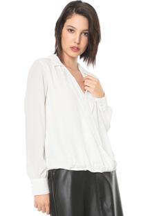 Camisa Enna Transpassada Off-White