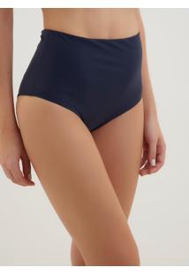 Calcinha Rosa Chá Audrey Navy Beachwear Azul Marinho Feminina (Dress Blues, G)