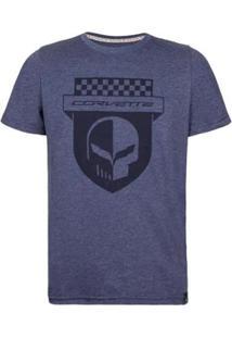 Camiseta Masculina Skull Shield Corvette - Masculino