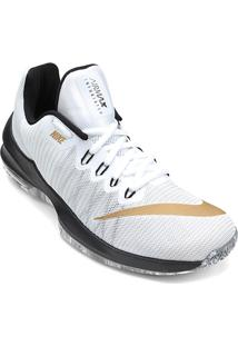 Tênis Nike Air Max Infuriate 2 Low Masculino - Masculino-Branco+Dourado