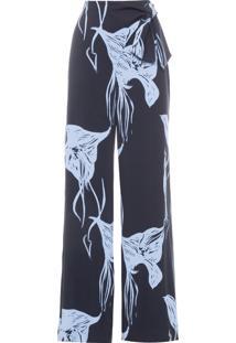 Calça Feminina Pantalona Amarração - Preto