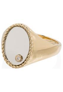 Yvonne Léon Anel Em Ouro 9K Com Diamante - Gold