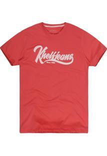 Camiseta Khelf Jeans Coral