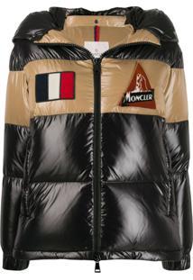 Moncler Patch Details Puffer Jacket - Preto