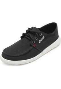 Sapatênis Coca Cola Shoes Burt Preto