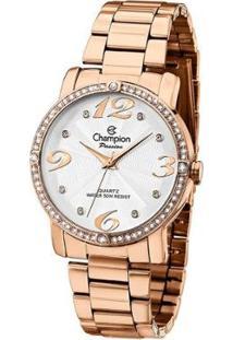 Relógio Champion Ch24768Z Pedras Strass Feminino - Feminino-Rosê