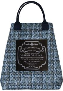 Bolsa Fefa Plus Gilson Martins Croche Azul