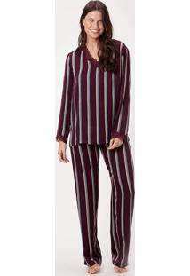 Pijama Joge Longo Cetim Listra