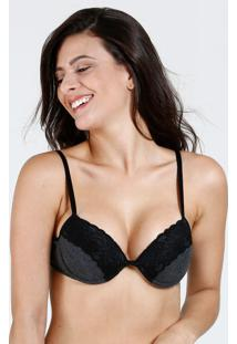 Sutiã Feminino Push Up Renda Marisa