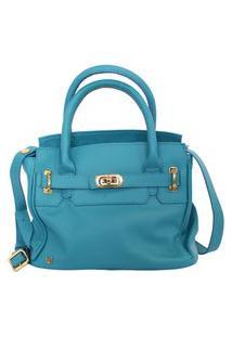 Bolsa Shape Envelope Azul Cobalto Feminina Atz 11