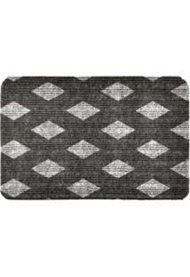 Capacho Carpet Triangulos Separados Cinza Único Love Decor