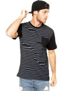 Camiseta Mcd Listrado Irregular Preta