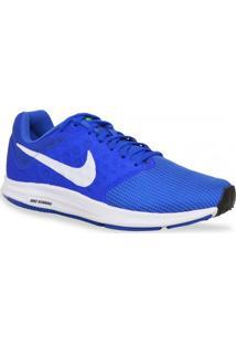 Tenis Nike Running Downshifter 7 Azul Branco