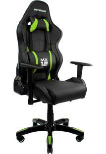 Cadeira Gamer Mx Twelve Preta E Verde