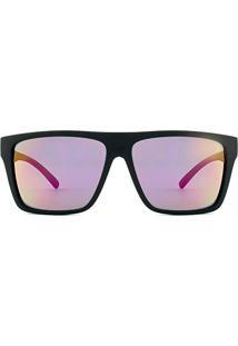 3d23e8df046dd ... Óculos De Sol Hb Floyd 9011700186 60 Preto Fosco Espelhado Rosa