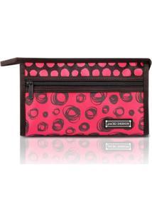 Necessaire Envelope Jacki Design Microfibra - Feminino-Vermelho