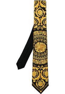 Versace Gravata Medusa - Preto