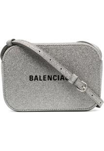 Balenciaga Bolsa Everyday - Prateado