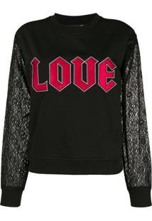 11515623a ... Love Moschino Blusa De Moletom 'Love' - Preto
