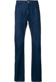 Raf Simons Calça Jeans Reta - Azul