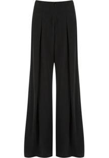 Uma | Raquel Davidowicz Calça Pantalona De Seda - Cinza