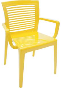 Cadeira Victoria Vazada Amarelo