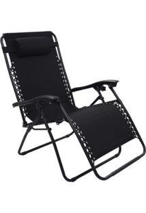 Cadeira Espreguiçadeira Pelegrin Gravidade Zero Em Tecido E Metal - Unissex