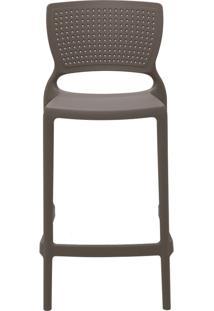Cadeira Safira Summa Alta Polipropileno Concreto Tramontina