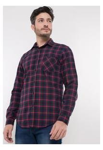 Camisa Comfort Em Flanela Xadrez