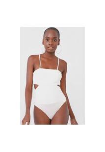 Body Colcci Recortes Off-White