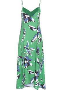 Vestido Midi Floral Salsa - Verde