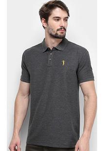 Camisa Polo Aleatory Piquet Masculina - Masculino-Mescla Escuro