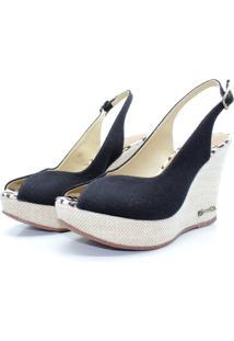 Sandalia Barth Shoes Lolita Preto - Kanui