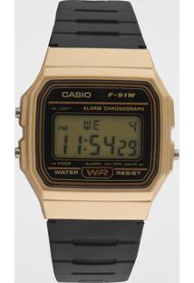 Relógio Casio F-91Wm-9Adf Dourado